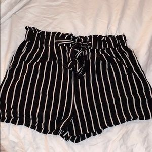 Tied Striped Shorts